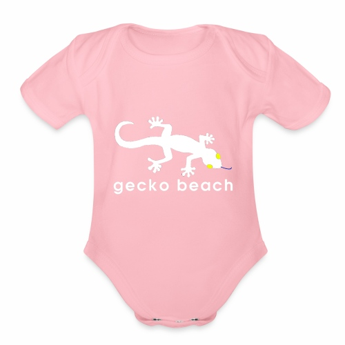 Gecko Beach - Organic Short Sleeve Baby Bodysuit