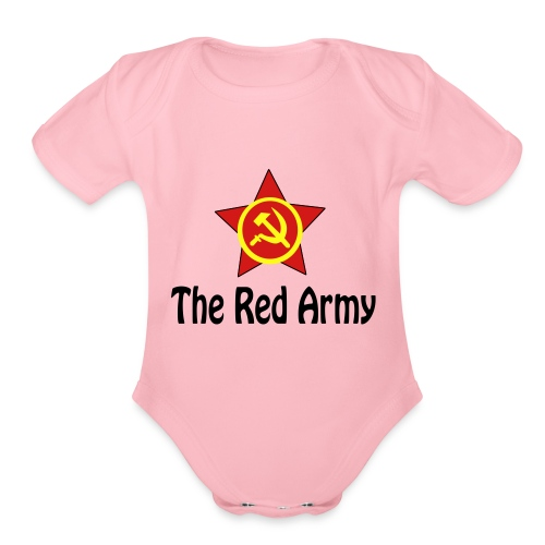 The Red Army - Organic Short Sleeve Baby Bodysuit