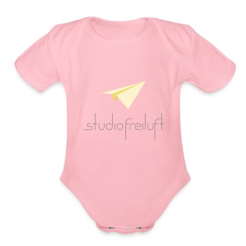 studiofreiluft logo gray font phone cases - Organic Short Sleeve Baby Bodysuit
