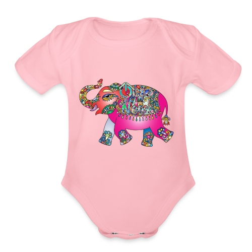 Elefante ON - Organic Short Sleeve Baby Bodysuit