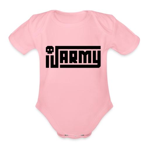 iJustine - iJ Army Logo - Organic Short Sleeve Baby Bodysuit