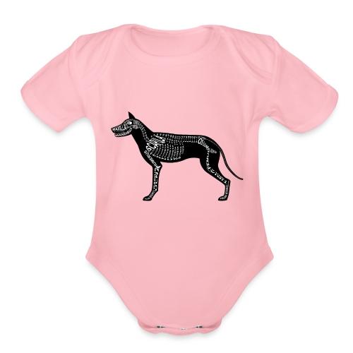 Skeleton Dog - Organic Short Sleeve Baby Bodysuit