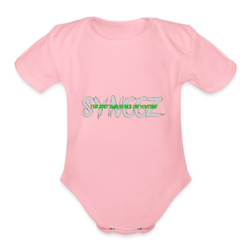 Scratchy Text - Organic Short Sleeve Baby Bodysuit