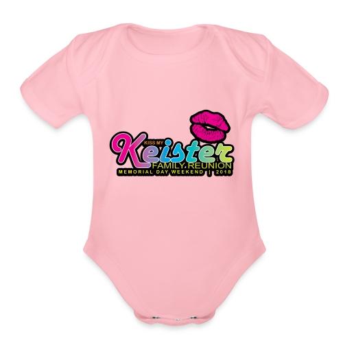 KISS MY KEISTER! - Organic Short Sleeve Baby Bodysuit