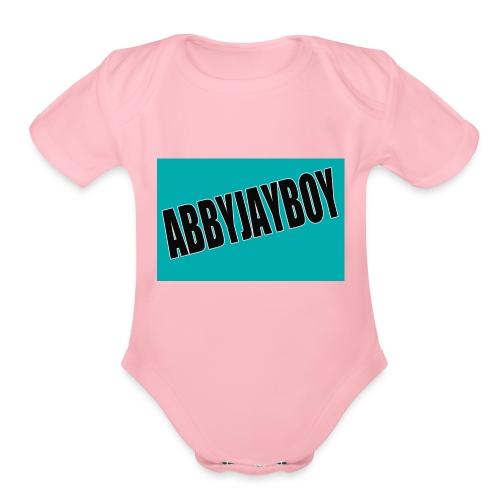 ABBYJAYBOY - Organic Short Sleeve Baby Bodysuit