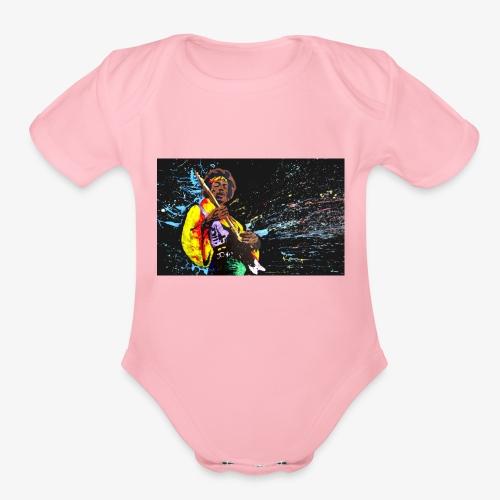 rasta rocker - Organic Short Sleeve Baby Bodysuit