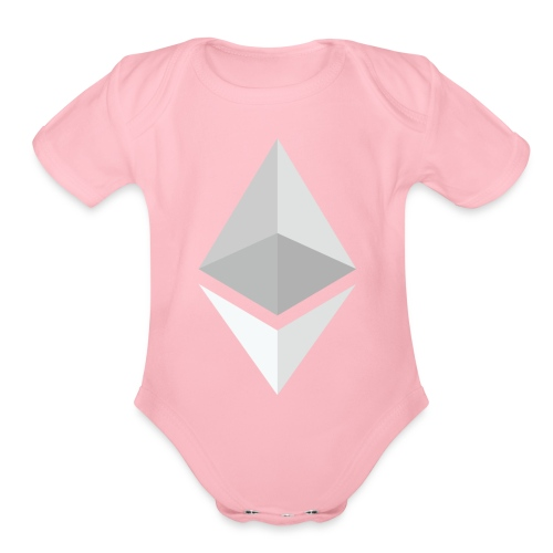 Ethereum Logo Light - Organic Short Sleeve Baby Bodysuit
