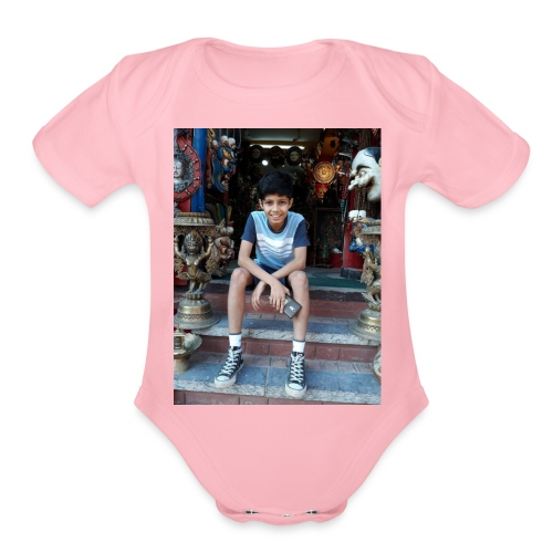 Ayushman Pokhrel's Merch - Organic Short Sleeve Baby Bodysuit