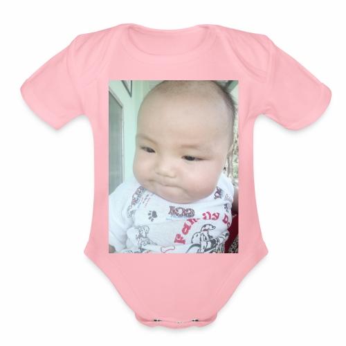 The angel - Organic Short Sleeve Baby Bodysuit