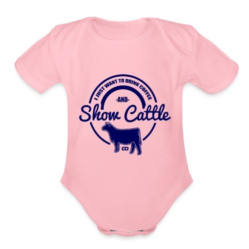 show cattle - Organic Short Sleeve Baby Bodysuit