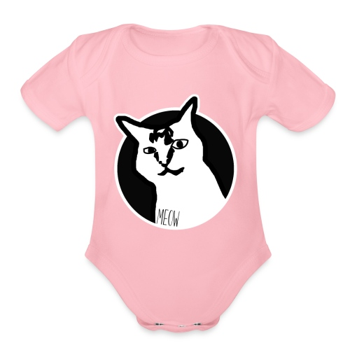 CAT MEOW - Organic Short Sleeve Baby Bodysuit