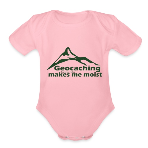 Geocaching in the Rain - Organic Short Sleeve Baby Bodysuit