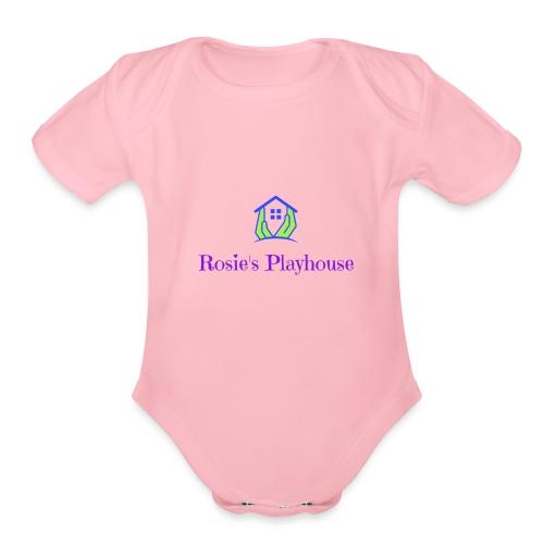 400dpiLogo - Organic Short Sleeve Baby Bodysuit