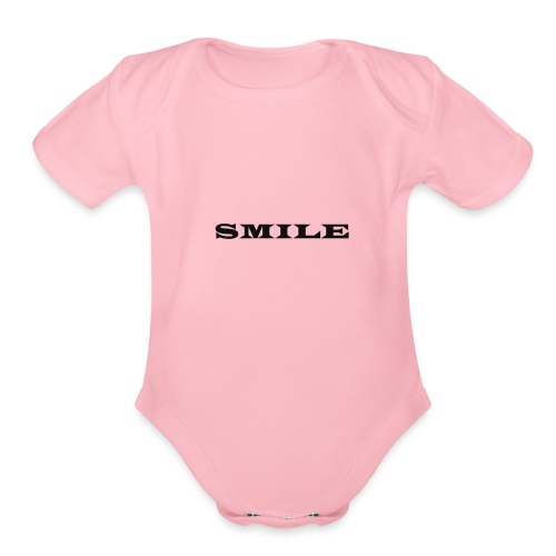 Smile bk - Organic Short Sleeve Baby Bodysuit