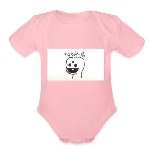 Monster ChanSB - Organic Short Sleeve Baby Bodysuit