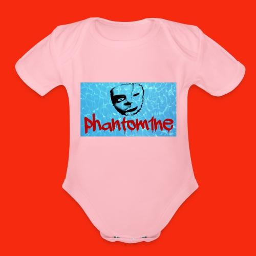 phantom project 1 - Organic Short Sleeve Baby Bodysuit