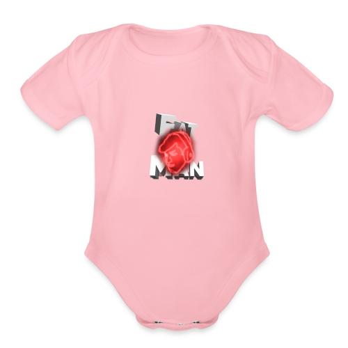 Fat Man // ItsRobert Merch - Organic Short Sleeve Baby Bodysuit