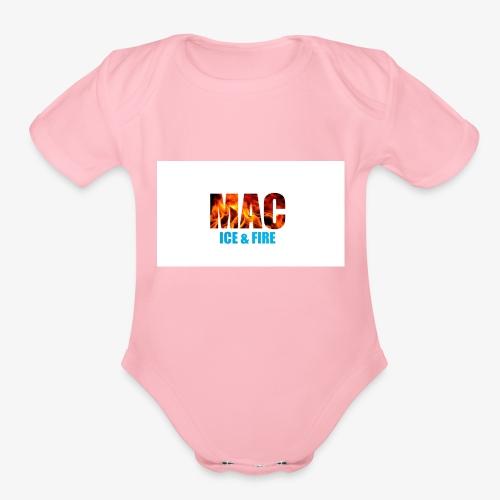 ICE FIRE - Organic Short Sleeve Baby Bodysuit