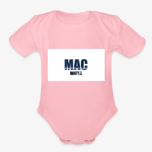 WATER - Organic Short Sleeve Baby Bodysuit