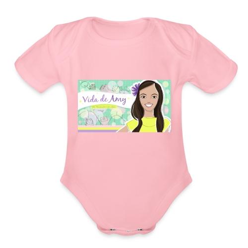 Vida de Amy T Shirt - Organic Short Sleeve Baby Bodysuit