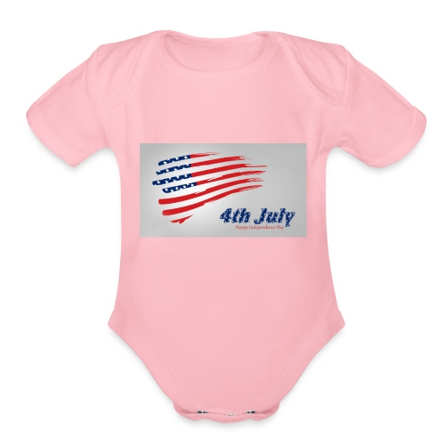 USA Independence Day 2 - Organic Short Sleeve Baby Bodysuit