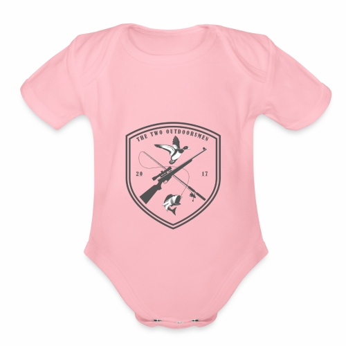 The Two Outdoorsmen Logo Tee - Organic Short Sleeve Baby Bodysuit