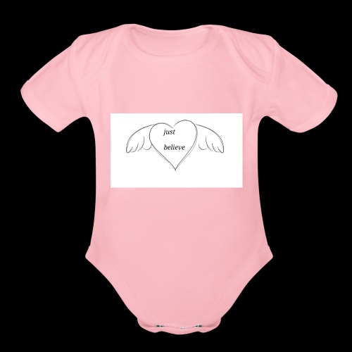 An inspiration from a doodle - Organic Short Sleeve Baby Bodysuit