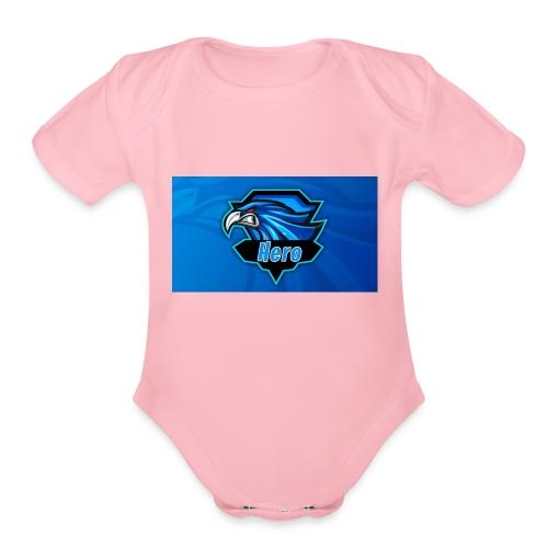 Hero Clan Logo - Organic Short Sleeve Baby Bodysuit