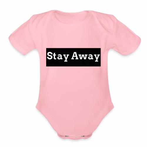 Stay Away - Organic Short Sleeve Baby Bodysuit