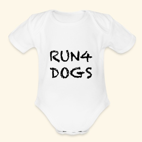 RUN4DOGS NAME - Organic Short Sleeve Baby Bodysuit