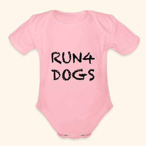 RUN4DOGS NAME - Organic Short Sleeve Baby Bodysuit