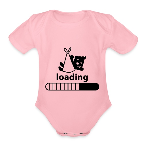 loading baby incoming - Organic Short Sleeve Baby Bodysuit