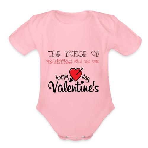 valentines - Organic Short Sleeve Baby Bodysuit