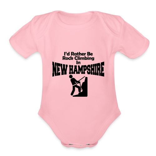Rock Climbing New Hampshire - Organic Short Sleeve Baby Bodysuit