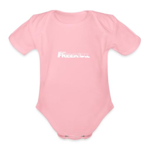 GK Freeride White Logo - Organic Short Sleeve Baby Bodysuit