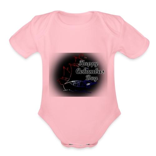 Columbus Days negro - Organic Short Sleeve Baby Bodysuit