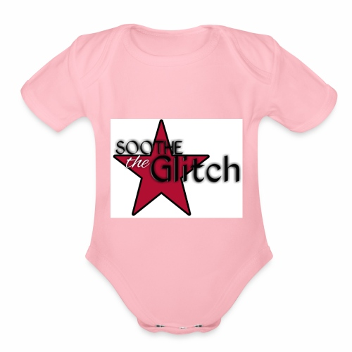 Soothe the glitch STAR LOGO - Organic Short Sleeve Baby Bodysuit
