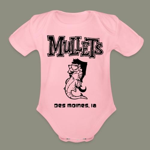 mulletmain black - Organic Short Sleeve Baby Bodysuit