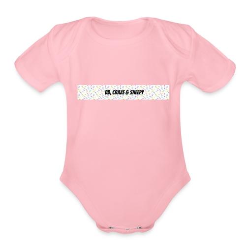 BB, Craze & Sheepy - Organic Short Sleeve Baby Bodysuit