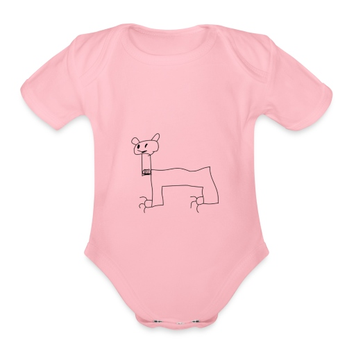 petro.truelo meme - Organic Short Sleeve Baby Bodysuit