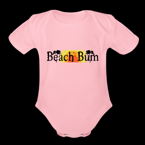 BeachBumlogowithTREES - Organic Short Sleeve Baby Bodysuit