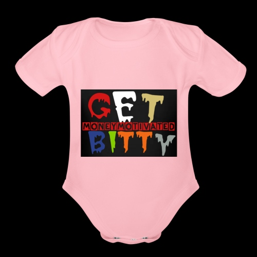 GetBitty - Organic Short Sleeve Baby Bodysuit