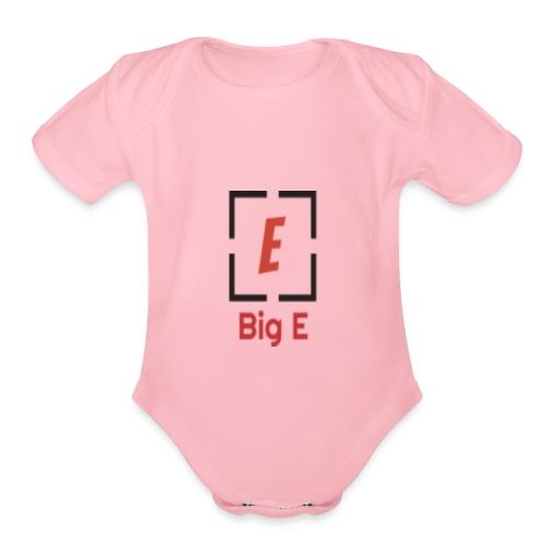 Big E Basic - Organic Short Sleeve Baby Bodysuit
