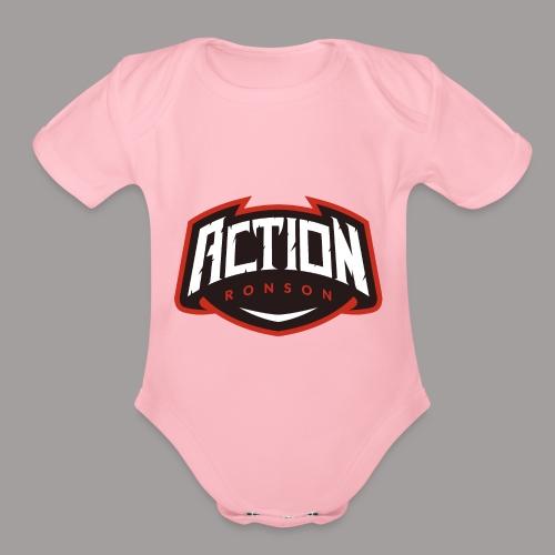 The Base Logo - Organic Short Sleeve Baby Bodysuit