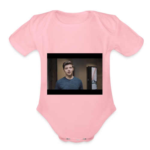 handsome preston - Organic Short Sleeve Baby Bodysuit