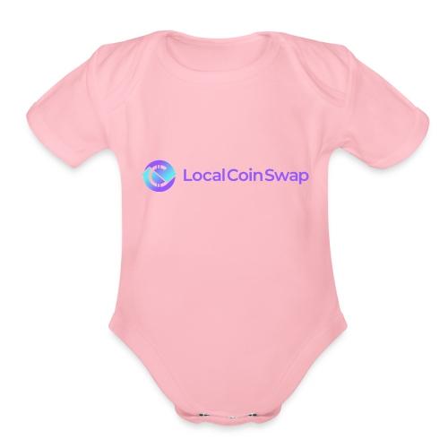 Logo white bg - Organic Short Sleeve Baby Bodysuit