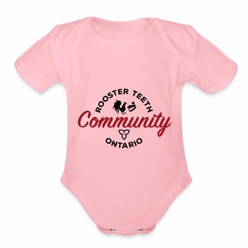 Rooster Teeth Ontario Community - Organic Short Sleeve Baby Bodysuit