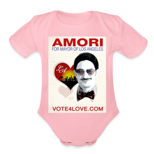 Amori for Mayor of Los Angeles eco friendly shirt - Organic Short Sleeve Baby Bodysuit
