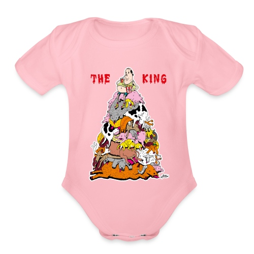 The King - Organic Short Sleeve Baby Bodysuit