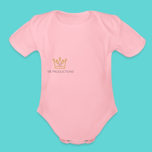 Musical Crown - Organic Short Sleeve Baby Bodysuit